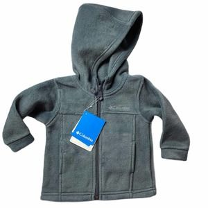NWT COLUMBIA Gray Hooded Zip Up Jacket - 12 Months